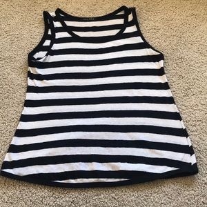 Tops - Black and white striped tank top